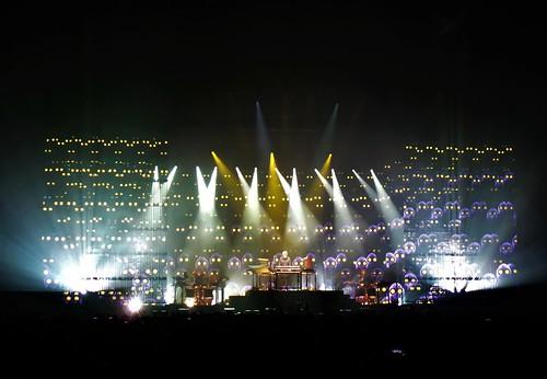 Jean-Michel Jarre in concert, 2017.