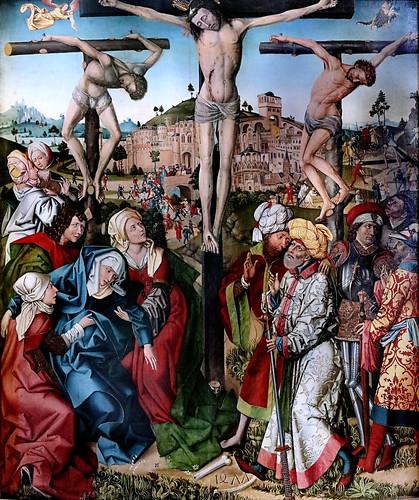 IMG_1100M Meister von 1477 Allemagne, Souabe Swabia Crucifixion Kreuzigung Christi  Augsburg Schaezlerpalais