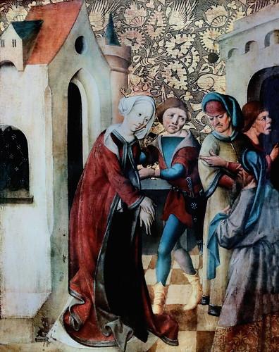 IMG_1100C X Allemagne Souabe ca 1480 ? sans doute un épisode de la vie de Sainte Barbe ? probably an episode in the life of Saint Barbara  Augsburg Schaezlerpalais
