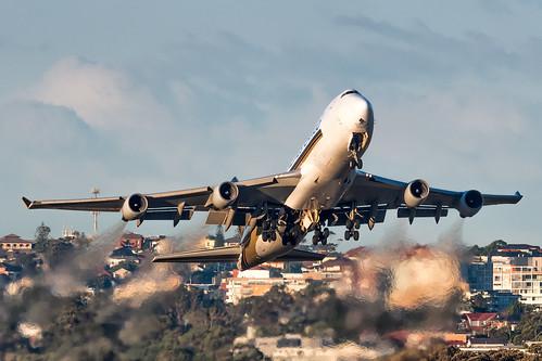 9V-SFI Singapore Airlines Cargo Boeing 747-412F(SCN) RWY25 Sydney Airport SYD/YSSY 13/7/2019
