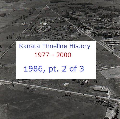 Kanata Timeline History 1986 (part 2 of 3)