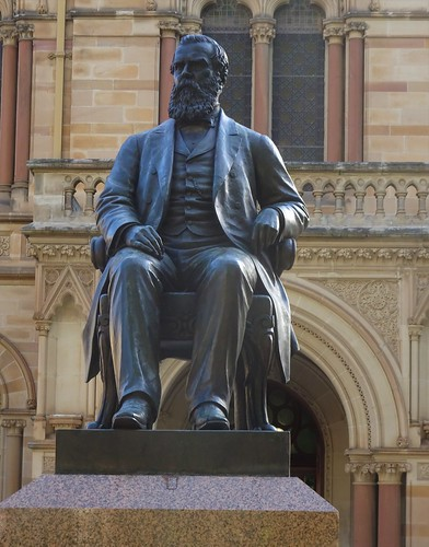 Adelaide. Statue of Sir Walter Watson Hughes Moonta mining magnate. Donated 20,000 pounds to found the University of Adelaide in 1874 as did Sir Thomas Elder. Statue 1906.
