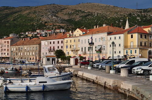 Fin d'après-midi, port de Senj, comté de Lika-Senj, Croatie, Europe.