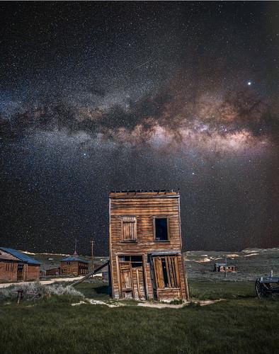 Bodie Ghost Town Milky Way Night Photography Astro Landscape. Fujifilm GFX 100 Medium Format Mirrorless Camera @ Bodie Ghost Town! Bodie Historic State Park California! Elliot McGucken Fine Art Photography! Fujifilm Fujinon GF 23mm f/4 R LM WR for GFX MF