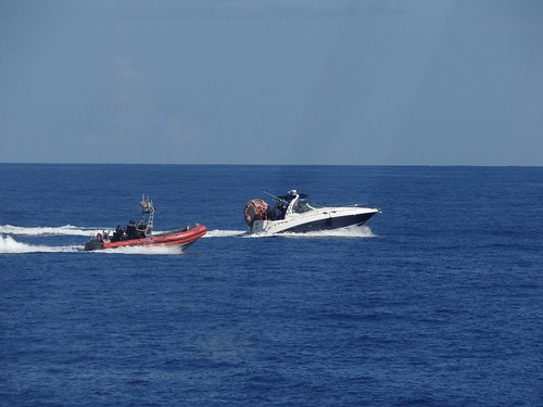 Coast Guard interdicts 4 migrants, 2 smugglers east of Hollywood