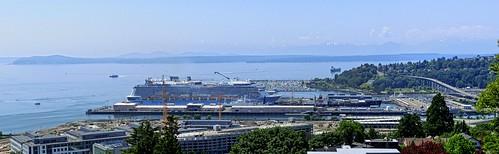 Smith Cove Cruise Terminal Seattle - Panorama, Seattle, WA