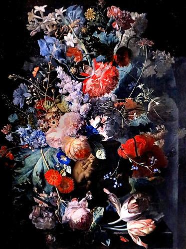 IMG_1257 Jan van Huysum 1682-1749 Amsterdam  Stillleben mit Blumen. Nature morte avec des fleurs  Still life with flowers 1650 Schwerin. Staatliches Museum