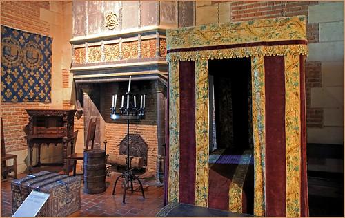 La chambre dite de Ruggieri, château de Chaumont, Chaumont-sur-Loire, Loir-et-Cher, France