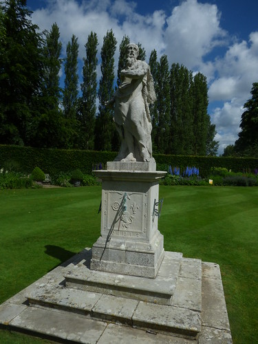 Herbaceous Garden - Anglesey Abbey - Figure of Father Time