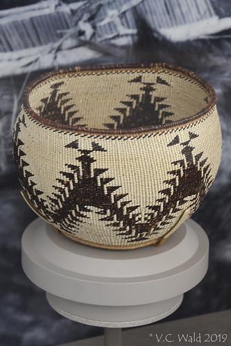Indian basket, Loomis Museum