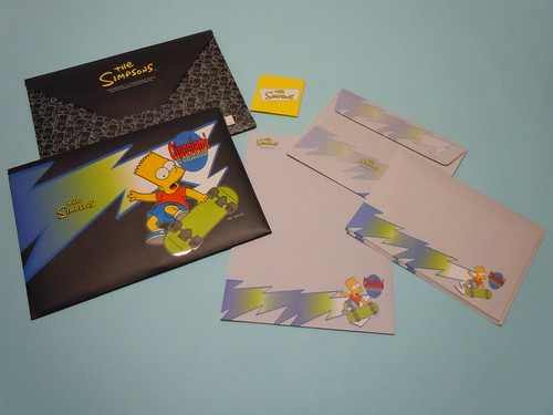 The Simpson Bart Letter Set