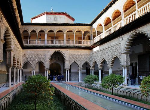 Patio de las Doncellas courtyard at the Royal Palace Alcázar