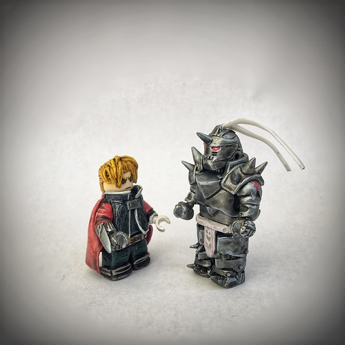 Edward and Alphonse Elric from Full Metal Alchemist.