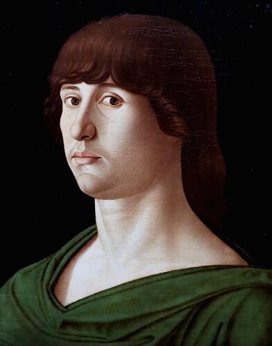IMG_4240 Giovanni Bellini 1430-1516 Venise Ritratto di giovane. Portrait of a young man 1478 Bergamo Accademia Carrara