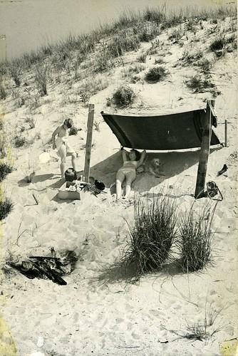 Enjoying the Beach in Ocean City, circa 1952