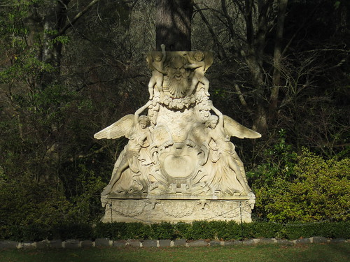 A Greek Stone Statue in the Italian Gardens - the Forest Glade Gardens; Mount Macedon Road, Mount Macedon