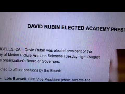 David Rubin Elected President Of The Academy Of Motion Picture Arts And Sciences