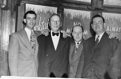 194703 Eugene A. Gilmartin with Eddie Davis and Leon Enken at  Leon & Eddie's  - New York 33 W 53 St just west of 5th Ave