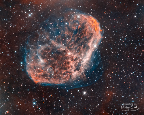 Crescent Nebula (NGC 6888) (with better enhanced OIII)