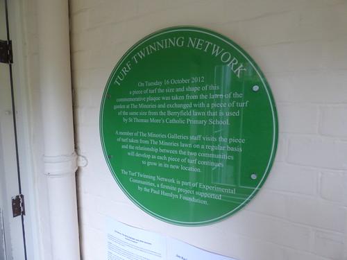The Minories - Tiptree Tea Room - Colchester - green plaque - Turf Twinning Network