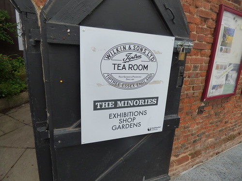 The Minories - Tiptree Tea Room - Colchester - sign