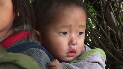 Vietnam - Sapa - Mountain Trek - Ta Van Village - Young Girl With Brother - 206