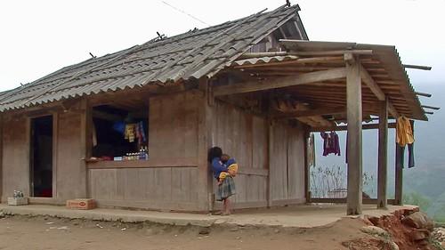 Vietnam - Sapa - Mountain Trek - Ta Van Village - Young Girl With Brother - 205