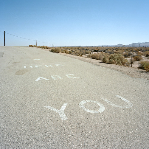 you are here. mojave desert, ca. 2012.