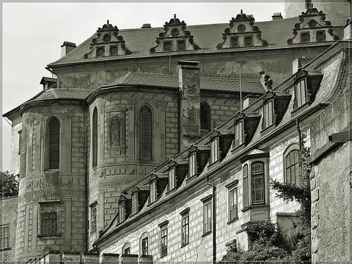 Burg, Schlosskirche und Schloss Friedland (Frýdlant)