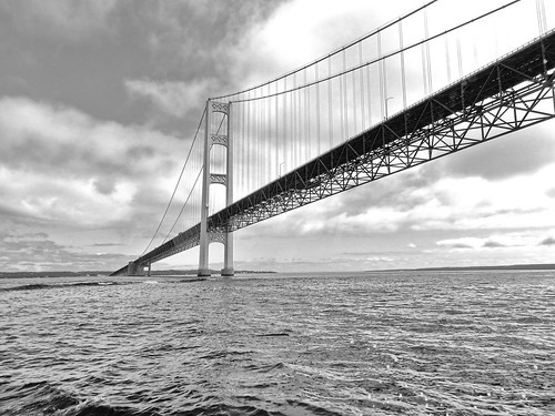 Mackinac Bridge - South Tower & Lower Peninsula