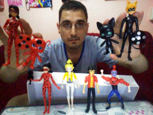 Ladybug, Tikki, Cat Noir, Plagg, Adrien, Chloe, Antibug and Bubbler Bootleg Figures / Figuras Pirata