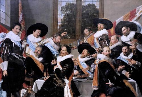 IMG_0132A  Les banquets ne sont plus les festins  des Dieux, mais les gueuletons des compagnies de miliciens.  The banquets are  no longer the feast of the Gods, but the gueuletons of militia companies.