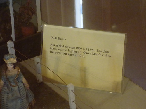 Hollytrees Museum, Colchester - Dolls House - sign