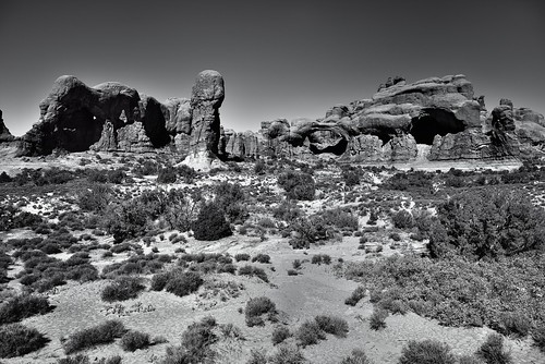 Suddenly I Saw the Cold and Rook-Delighting Heaven (Black & White, Arches National Park)