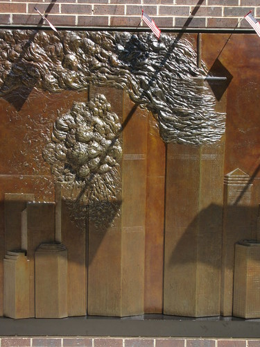 9/11 Twin Tower Memorial Wall Relief World Trade Center 7496