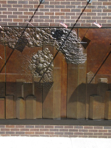9/11 Twin Tower Memorial Wall Relief World Trade Center 7495