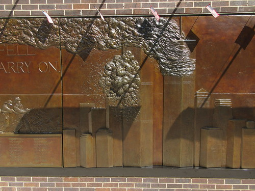 9/11 Twin Tower Memorial Wall Relief World Trade Center 7498