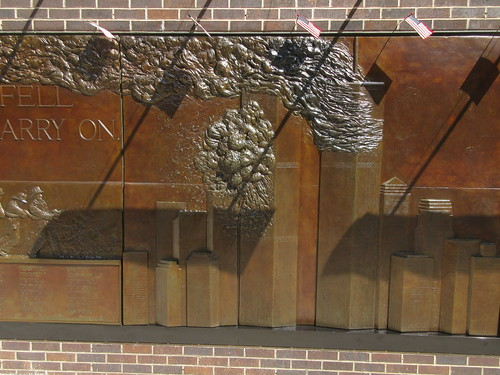 9/11 Twin Tower Memorial Wall Relief World Trade Center 7497