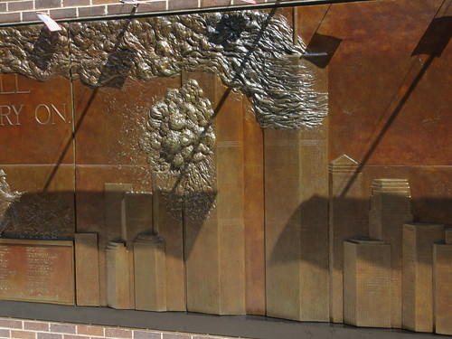 9/11 Twin Tower Memorial Wall Relief World Trade Center 7494