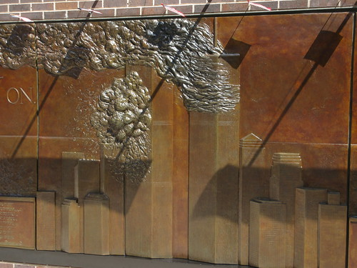 9/11 Twin Tower Memorial Wall Relief World Trade Center 7493