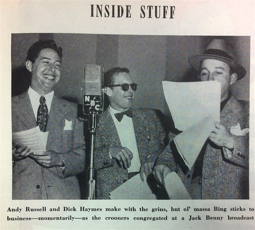 Andy Russell, Dick Haymes, Bing Crosby at NBC, Photoplay June 1947
