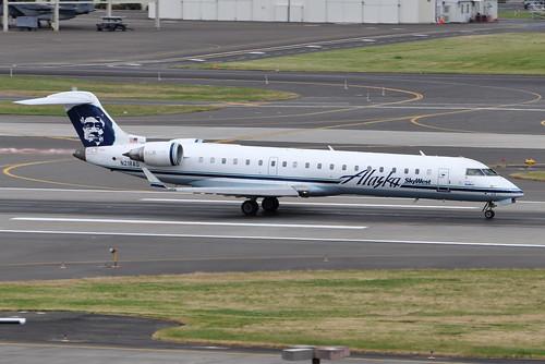 Alaska Airlines (SkyWest Airlines) - Bombardier (Canadair) CRJ-701ER (CL-600-2C10) - N218AG - Portland International Airport (PDX) - June 3, 2015 5 412 RT CRP