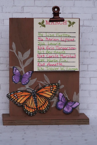 Hero Arts Color Layering Monarch Butterfly List Stand