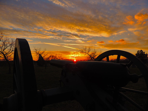 Sunset at the Peach Orchard