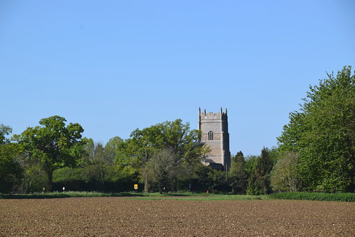 Rougham across spring fields
