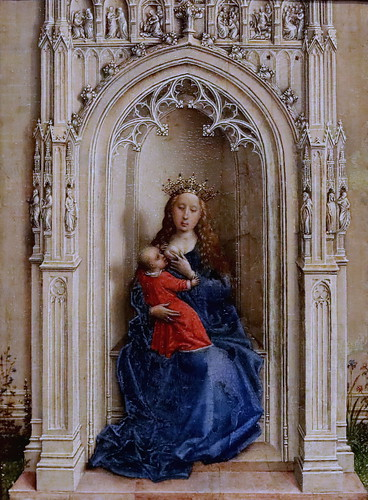 IMG_3141E Rogier van der Weyden 1399-1464 Bruxelles La Vierge et l'Enfant en Majesté The Virgin and Child enthroned  1433 Madrid Thyssen-Bornemisza.