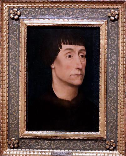 IMG_3141G Rogier van der Weyden 1399-1464 Bruxelles Portrait d'homme. Portrait of a man. 1464 Madrid Thyssen-Bornemisza.