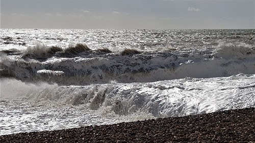 St Leonards beach on a very windy day 2019