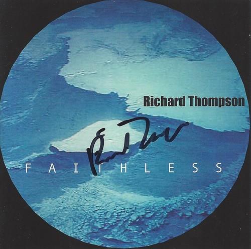 Richard Thompson autographed Faithless cd jacket