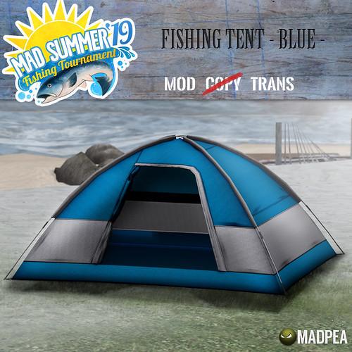 MadPea Mad Summer '19 Fishing Tournament Shiny: Fishing Tent - Blue!